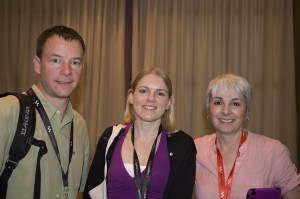 Social media and journalism influencers: (l-r) Mark Briggs, Mandy Jenkins, Evonne Benedict