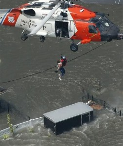 Hurricane Katrina rescue. Photo by US Coast Guard