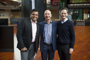 Hanson Hosein with Jeff Bezos and MOHAI Director Leonard Garfield. All rights reserved 2013 HRH Media Group
