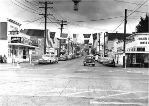 Issaquah in 1949, when the city started to draw out residents outside of Seattle because of its all-American appeal. Photo provided by Kim Lichttenegger.