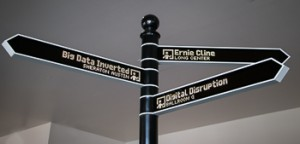 Even the signpost is digital: arms change direction depending on your destination Photo by Carolyn Higgins