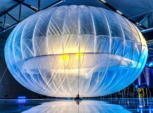 Google[x] Project Loon balloon at launch event