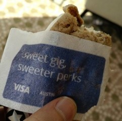 VISA SXSW Fritz Kessler Edible Wrapper